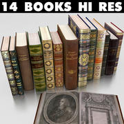 Antique Books 2 3d model