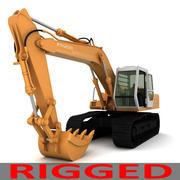 Rigged Fiat Hitachi Excavator FH200 3d model
