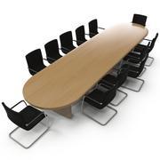 会议桌椅 3d model