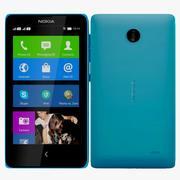 Nokia X & X+ Blue 3d model