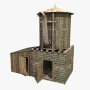 Stary zbiornik na wodę 3d model