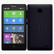 Nokia X & X+ Black 3d model