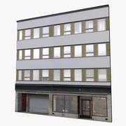 Gevel van het gebouw 3d model