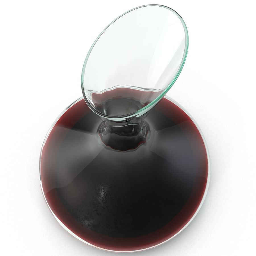 Wine Decanter royalty-free 3d model - Preview no. 3