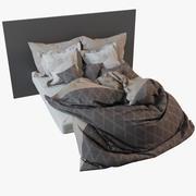 Fotogerçekçi yatak örtüsü 3d model