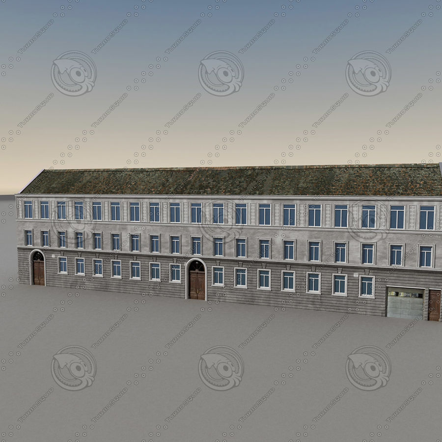 European Building 129 royalty-free 3d model - Preview no. 7
