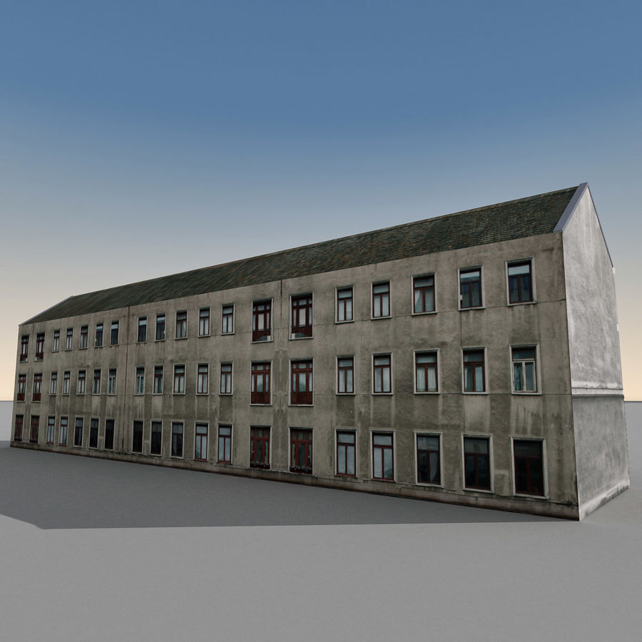 European Building 129 royalty-free 3d model - Preview no. 9