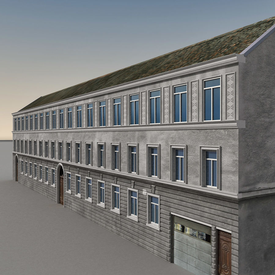European Building 129 royalty-free 3d model - Preview no. 1