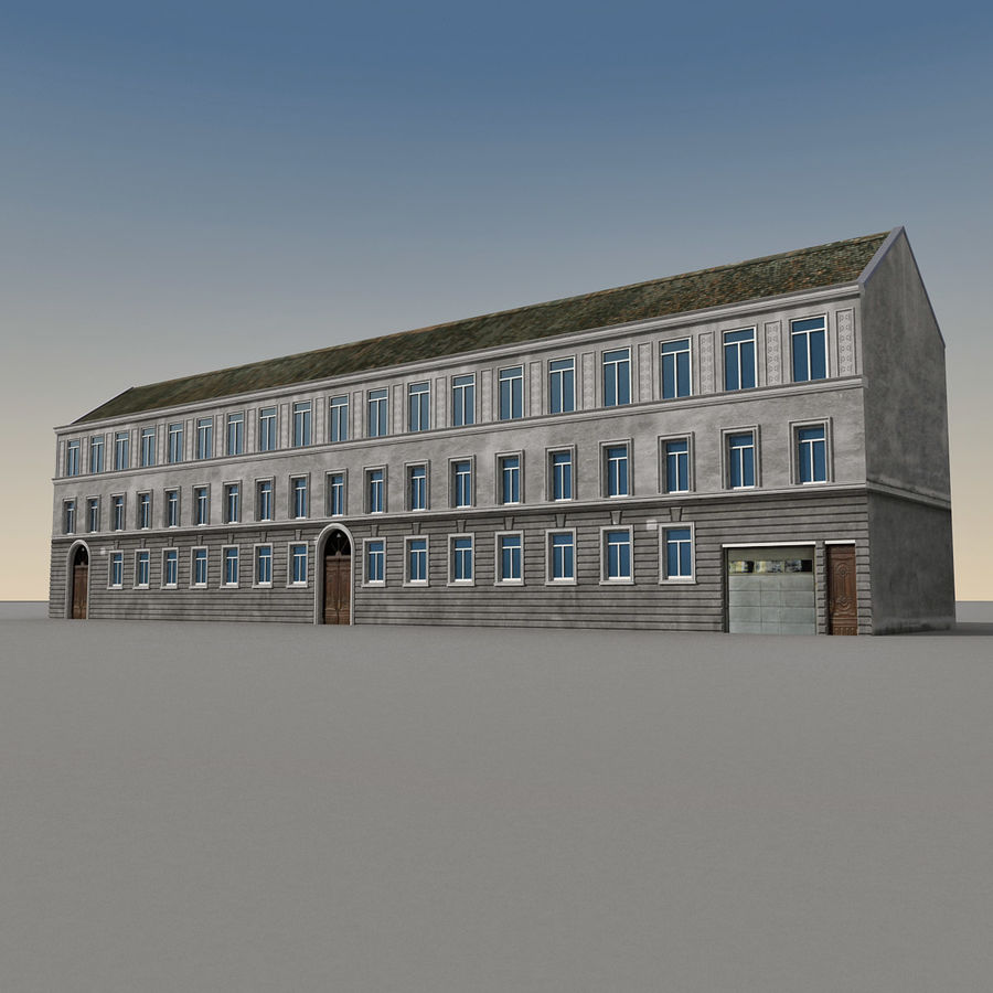 European Building 129 royalty-free 3d model - Preview no. 2