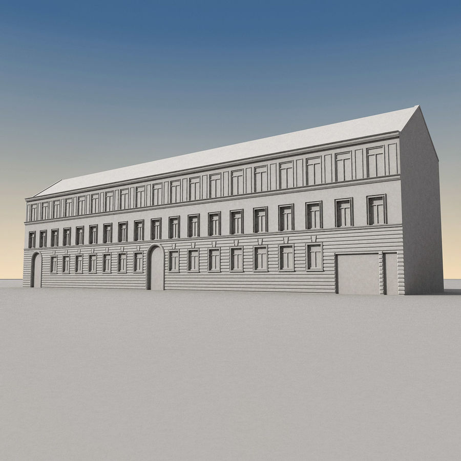 European Building 129 royalty-free 3d model - Preview no. 10