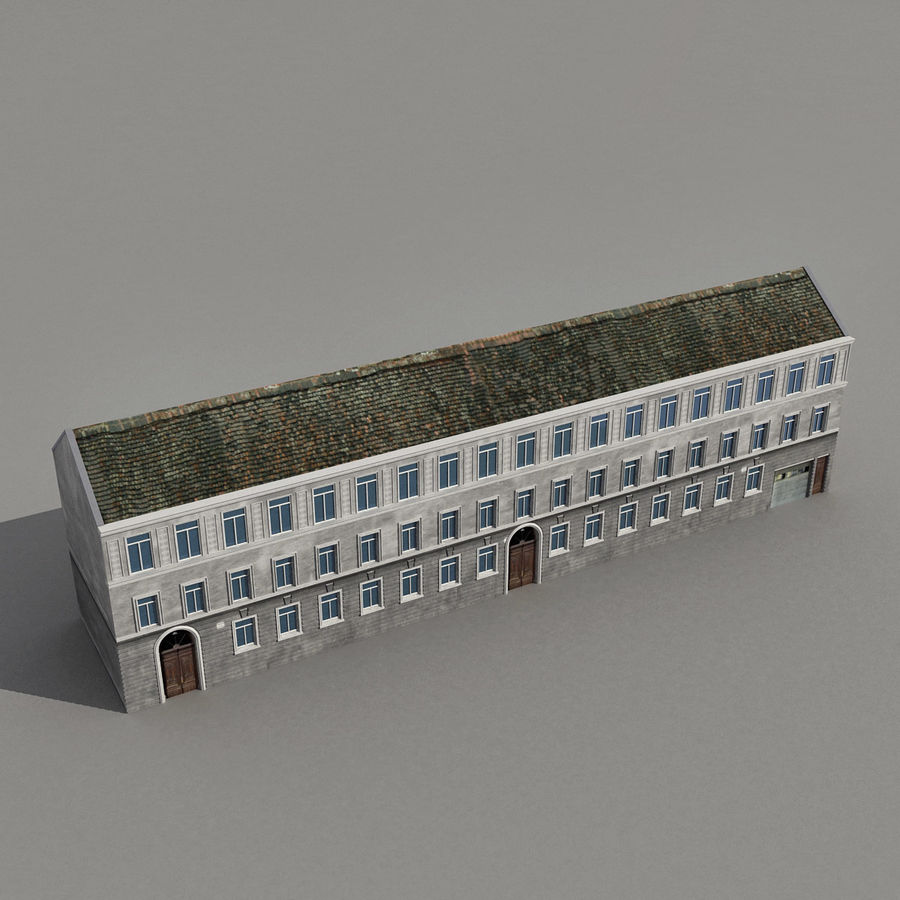 European Building 129 royalty-free 3d model - Preview no. 8