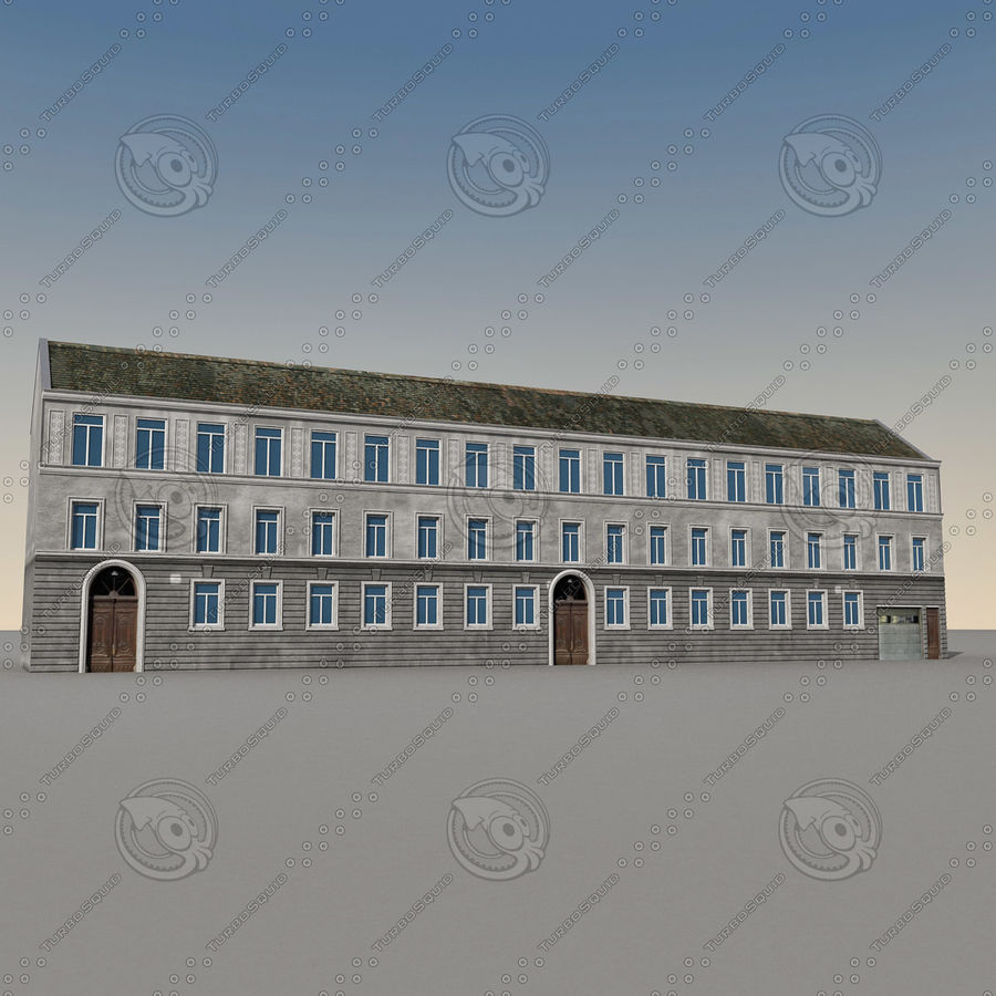 European Building 129 royalty-free 3d model - Preview no. 5