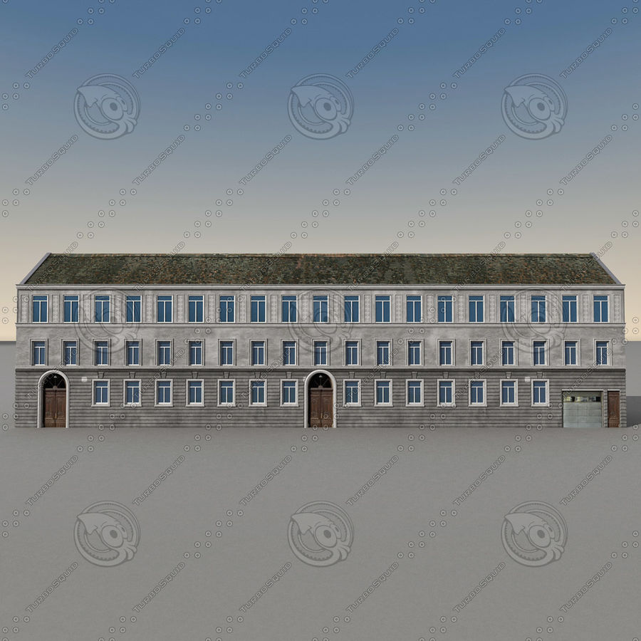 European Building 129 royalty-free 3d model - Preview no. 6