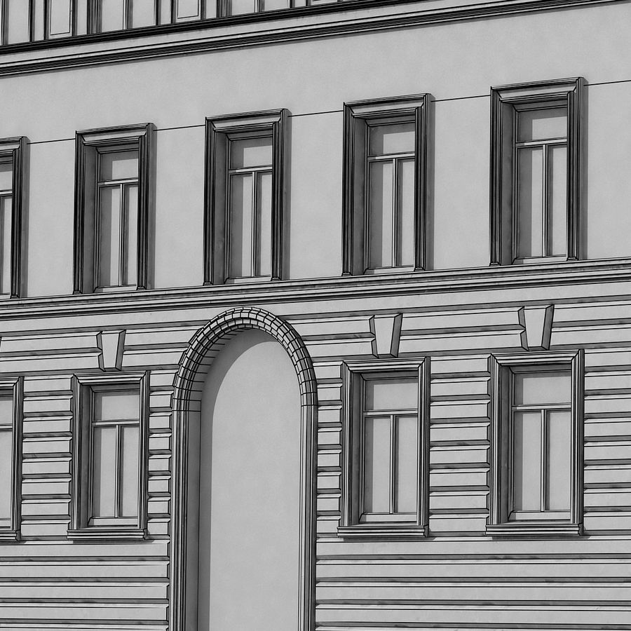 European Building 129 royalty-free 3d model - Preview no. 13