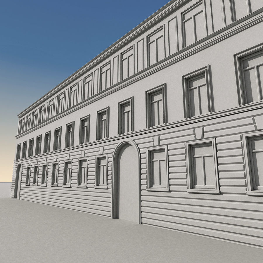 European Building 129 royalty-free 3d model - Preview no. 11