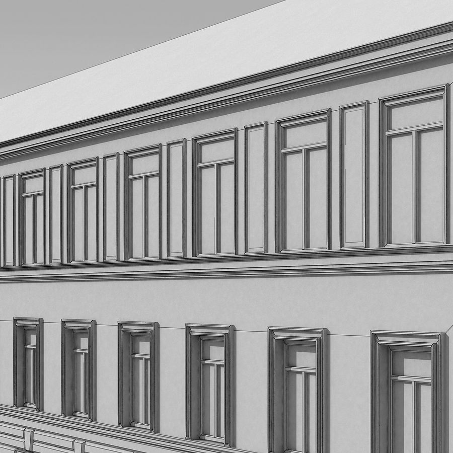 European Building 129 royalty-free 3d model - Preview no. 14