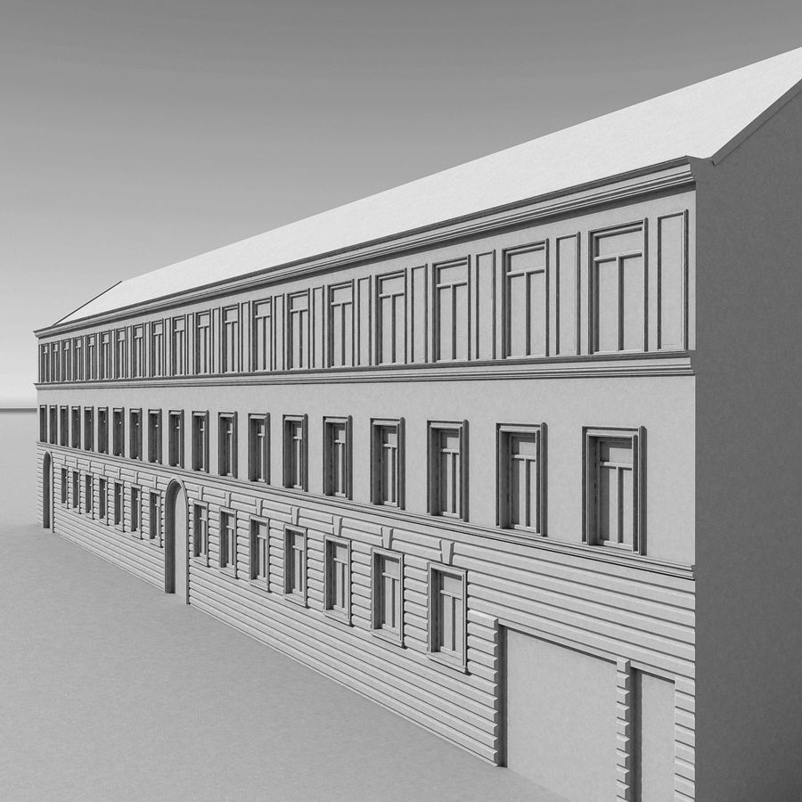 European Building 129 royalty-free 3d model - Preview no. 12