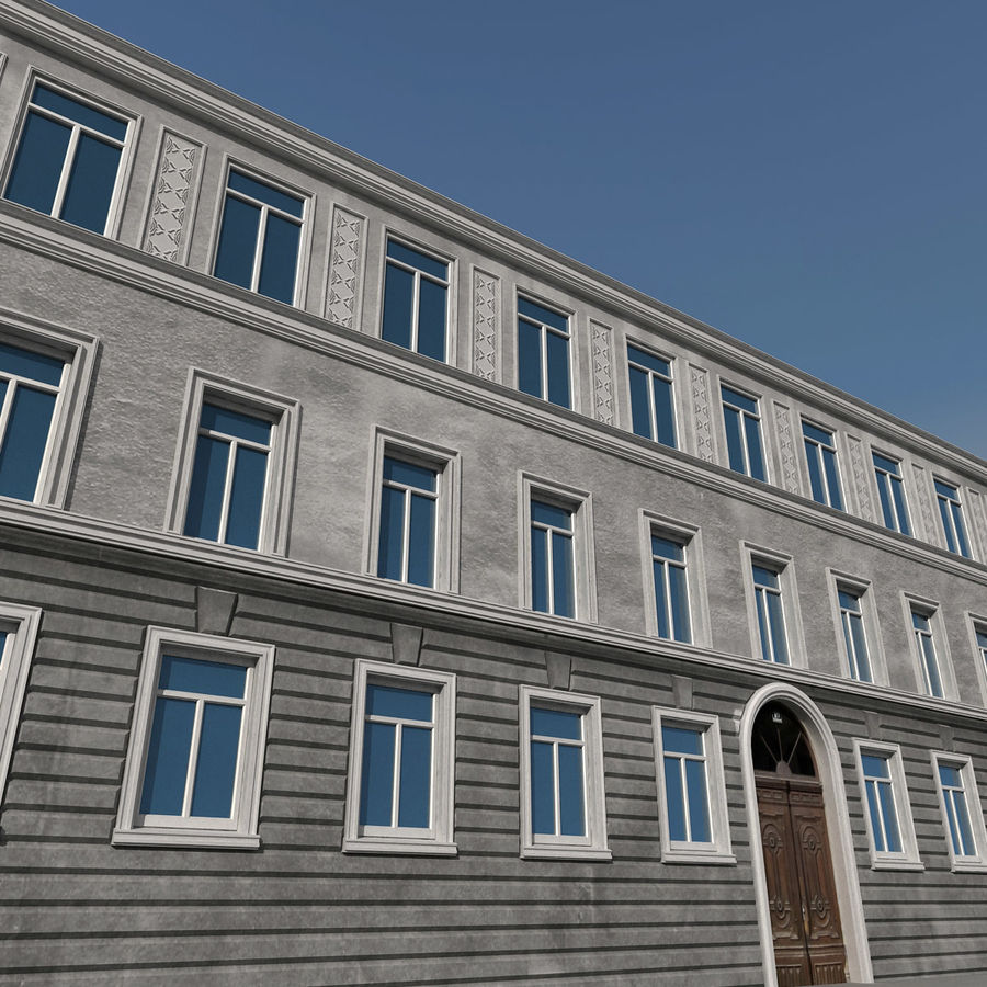 European Building 129 royalty-free 3d model - Preview no. 3