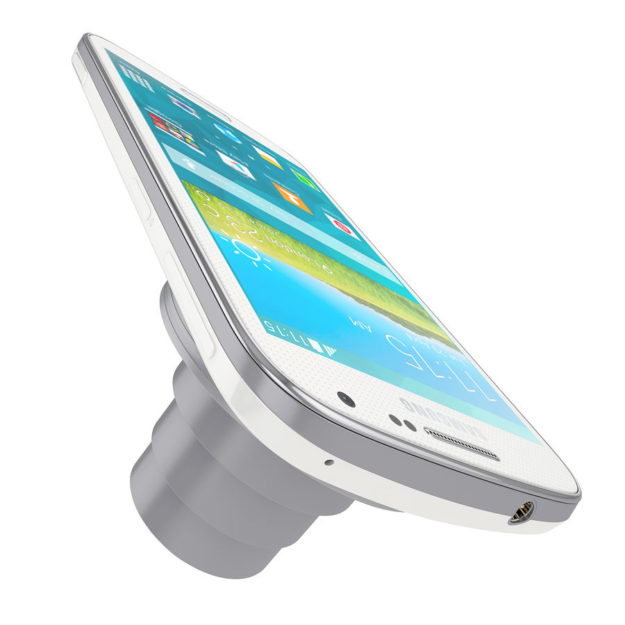 Samsung Galaxy K Zoom Smartphone Camera White royalty-free 3d model - Preview no. 5