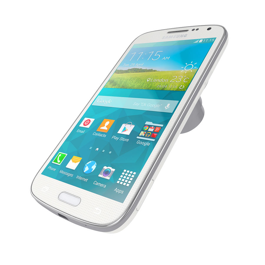 Samsung Galaxy K Zoom Smartphone Camera White royalty-free 3d model - Preview no. 3