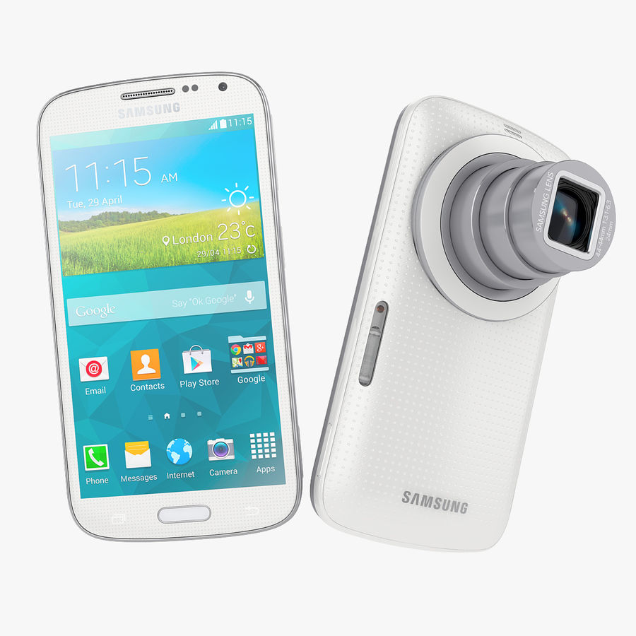 Samsung Galaxy K Zoom Smartphone Camera White royalty-free 3d model - Preview no. 1