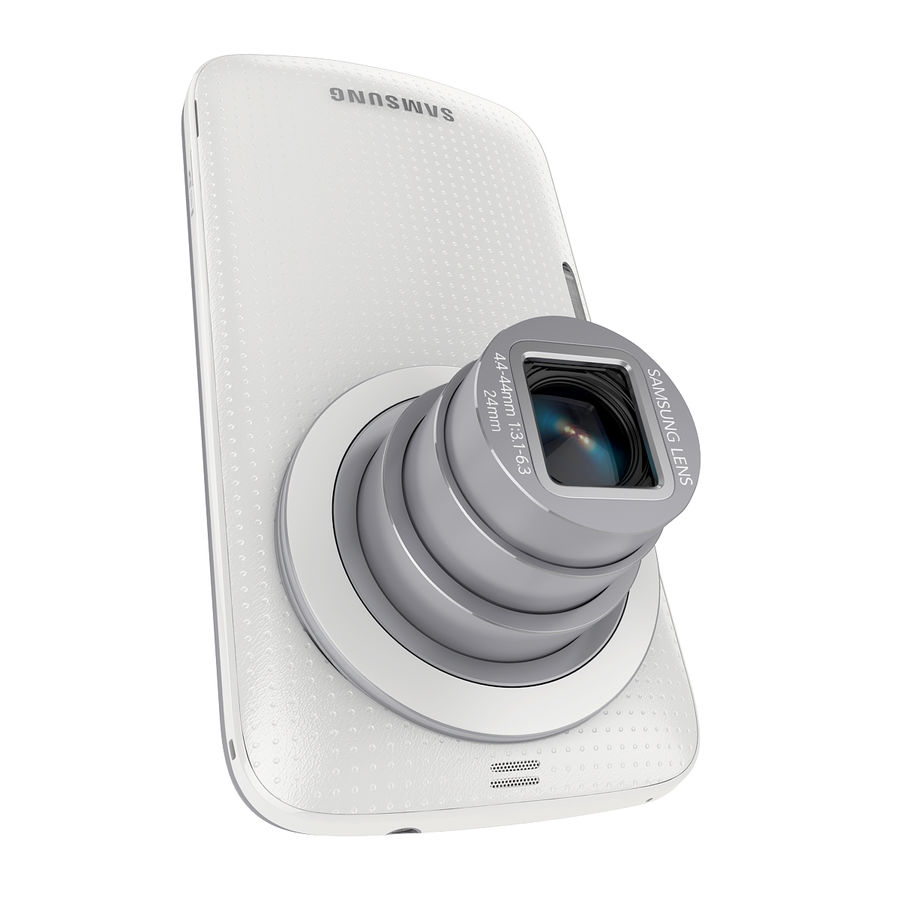 Samsung Galaxy K Zoom Smartphone Camera White royalty-free 3d model - Preview no. 7