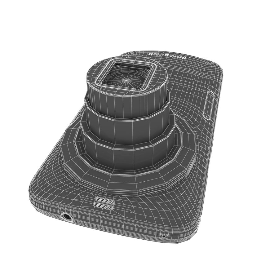 Samsung Galaxy K Zoom Smartphone Camera White royalty-free 3d model - Preview no. 10