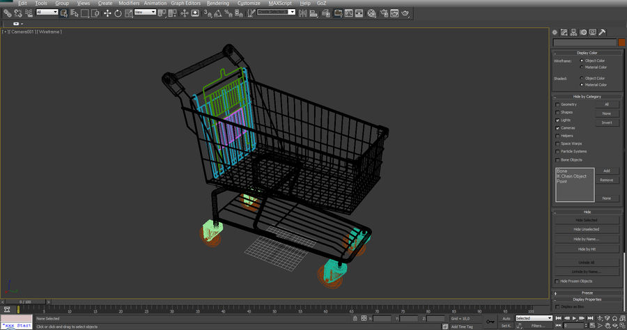 Supermarket Shopping Cart royalty-free 3d model - Preview no. 19