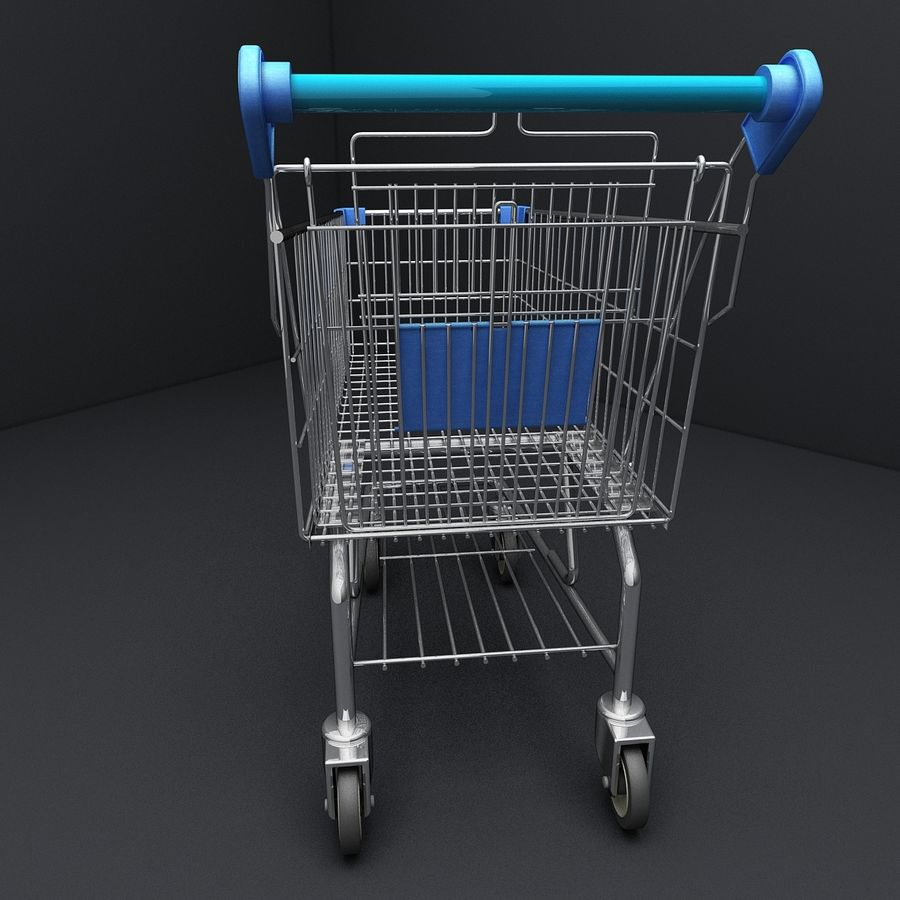 Supermarket Shopping Cart royalty-free 3d model - Preview no. 5