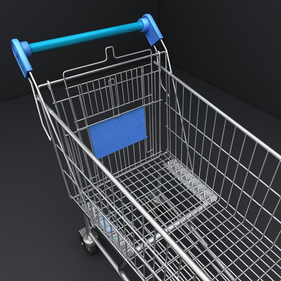 Supermarket Shopping Cart royalty-free 3d model - Preview no. 12