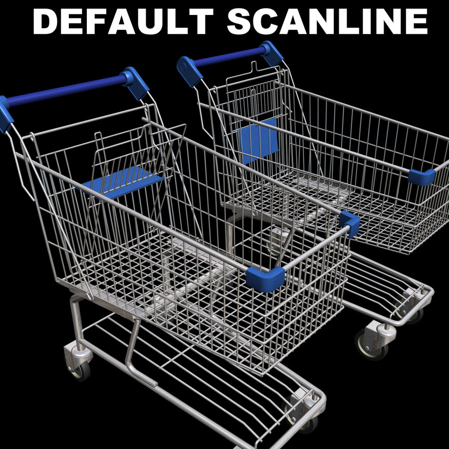 Supermarket Shopping Cart royalty-free 3d model - Preview no. 20