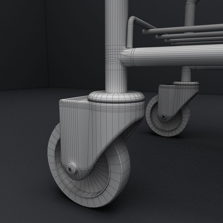 Supermarket Shopping Cart royalty-free 3d model - Preview no. 16