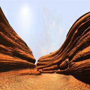 Cartoon Arizona Canyon 3d model
