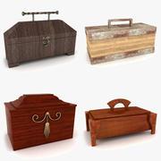 Collection de boîtes d'accent 3d model