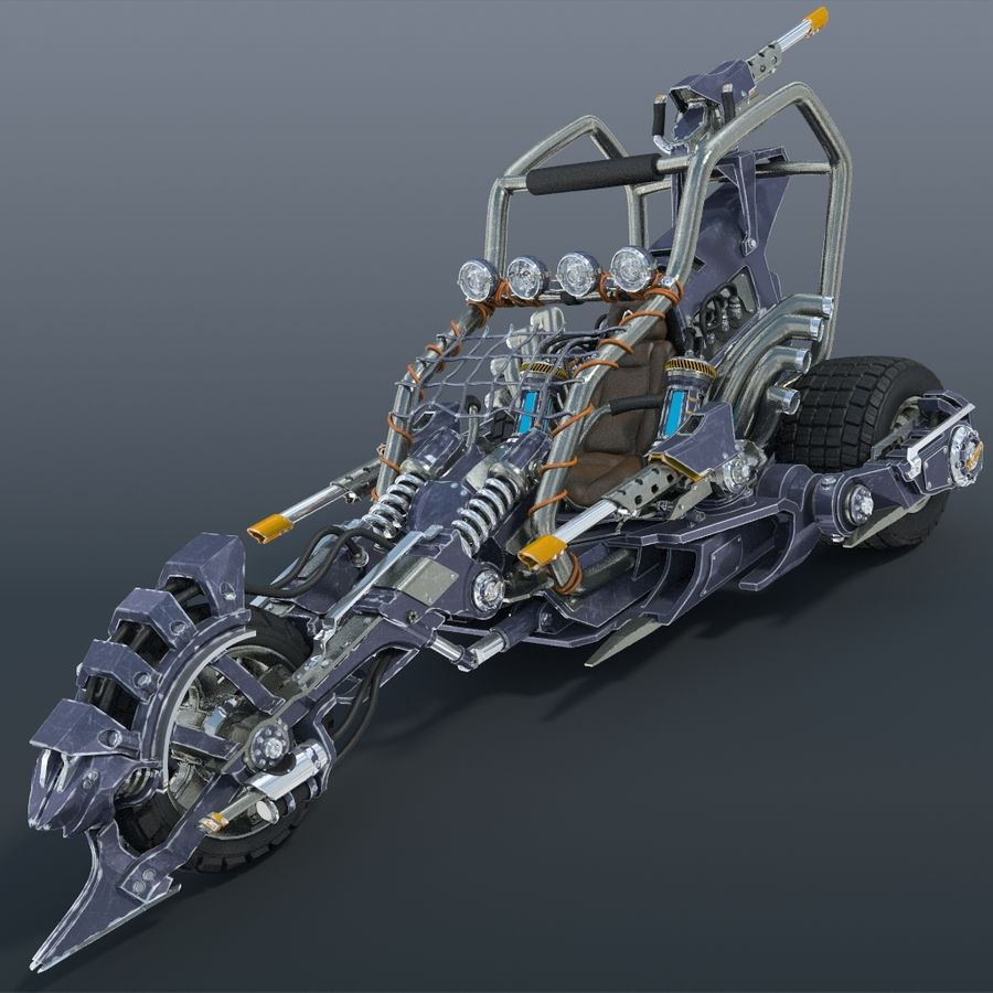 Bike concept royalty-free 3d model - Preview no. 1