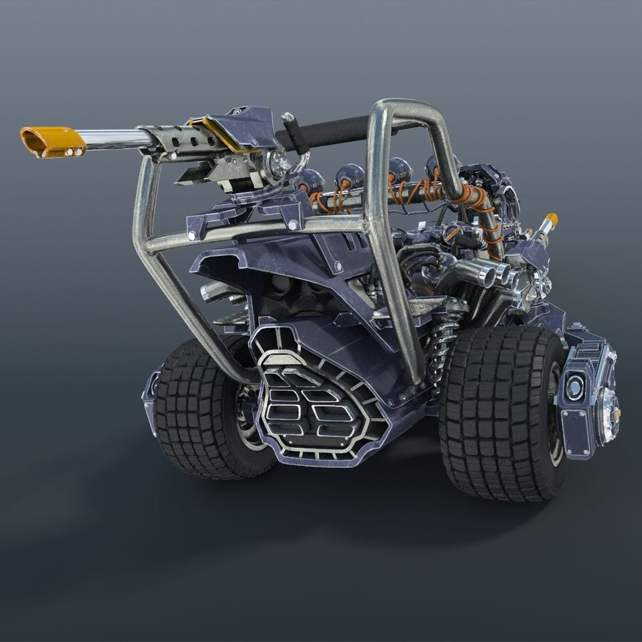 Bike concept royalty-free 3d model - Preview no. 3