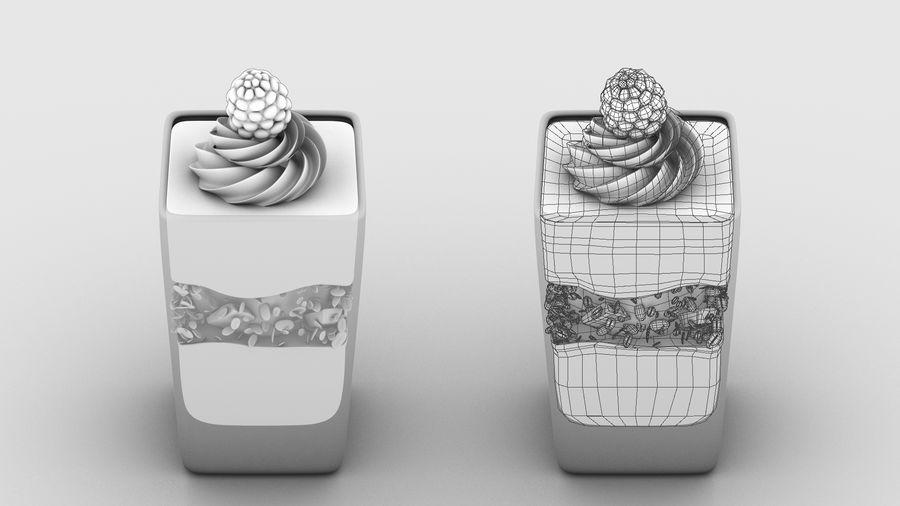 Mini Dessert Yogurt Cup royalty-free 3d model - Preview no. 3