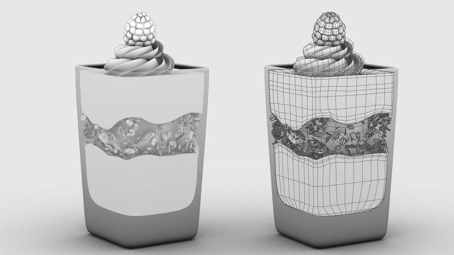 Mini Dessert Yogurt Cup royalty-free 3d model - Preview no. 4