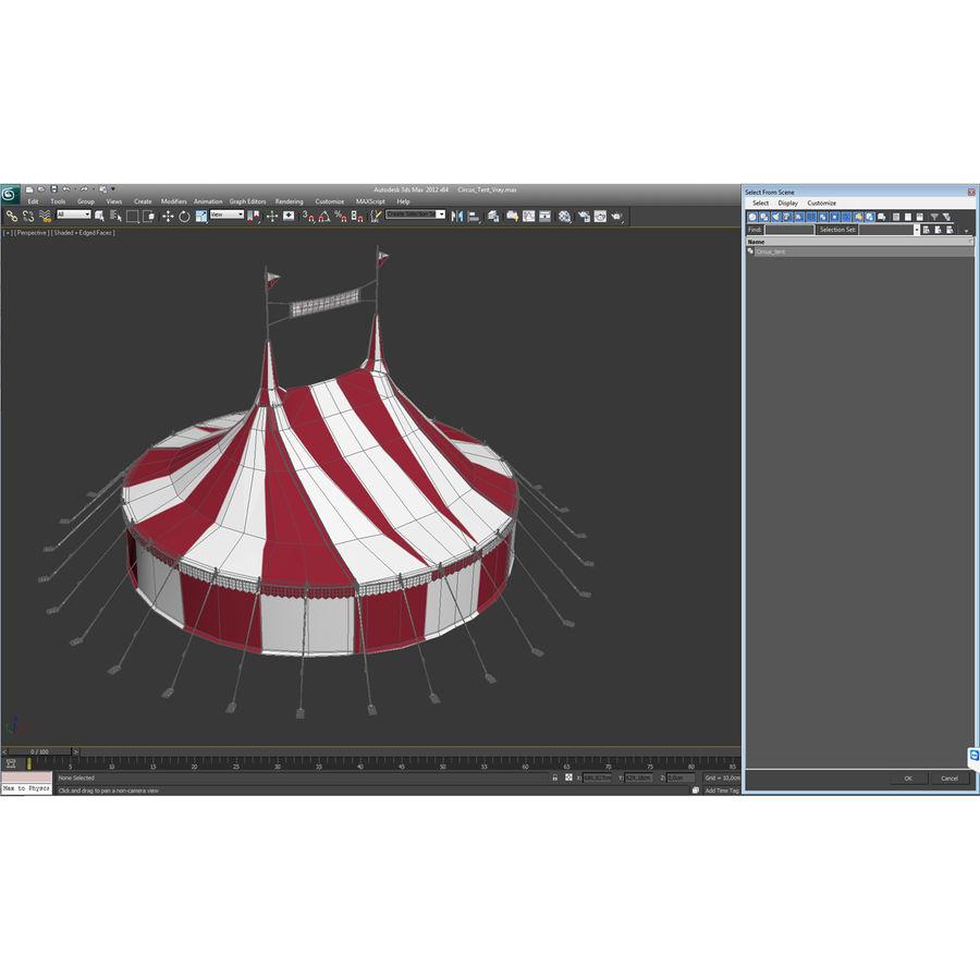 サーカスのテント royalty-free 3d model - Preview no. 25