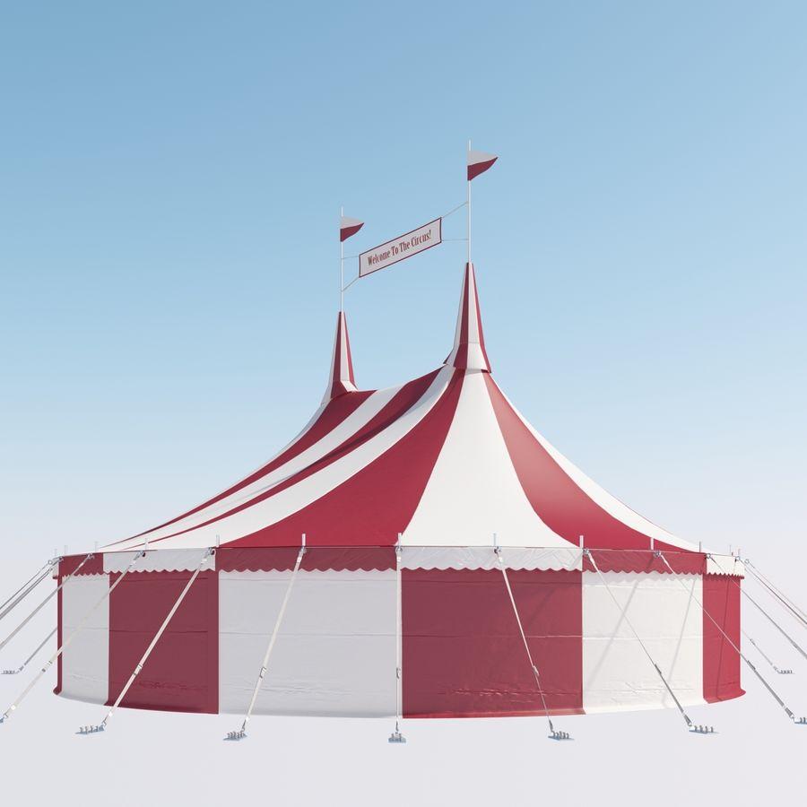 サーカスのテント royalty-free 3d model - Preview no. 12