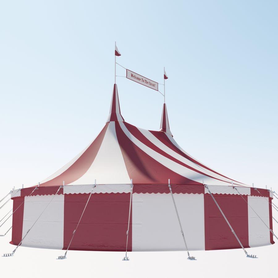 サーカスのテント royalty-free 3d model - Preview no. 3