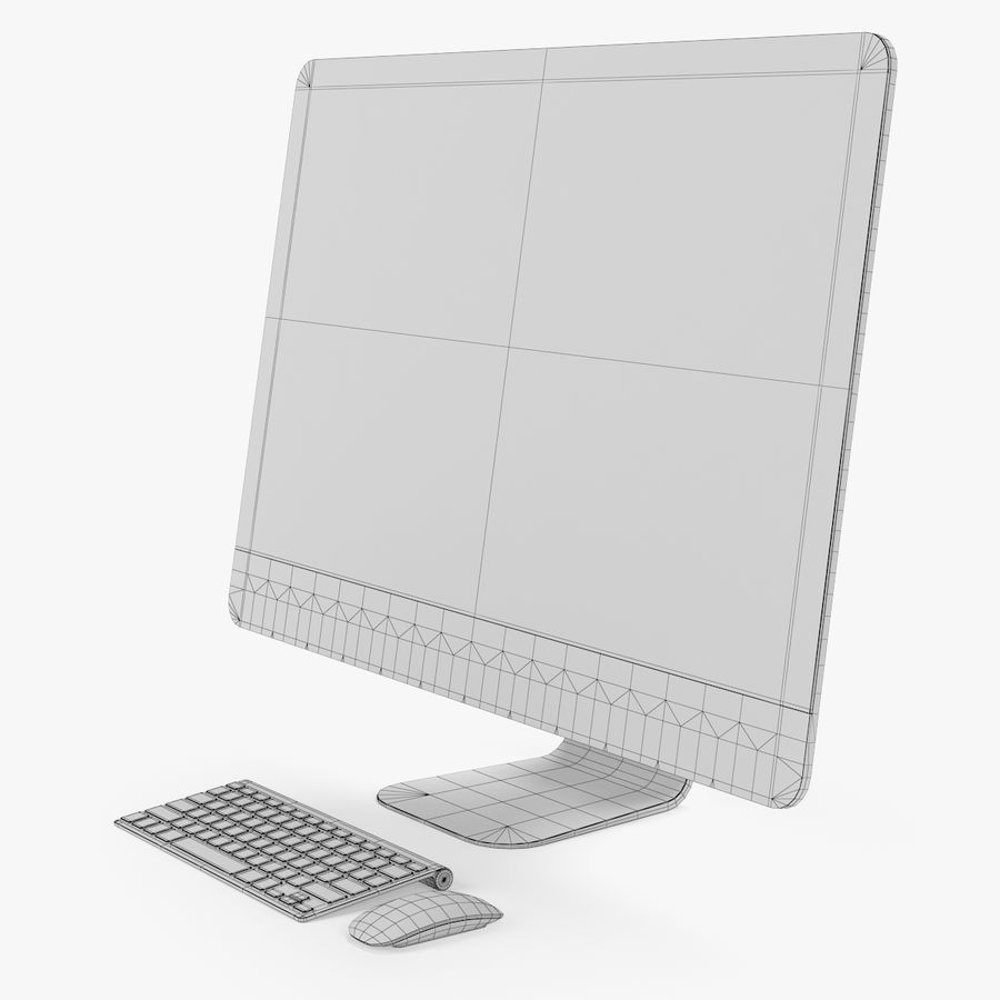 Ordinateur de bureau royalty-free 3d model - Preview no. 7