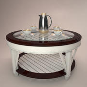 Promenade koffie cocktail tafel 3d model