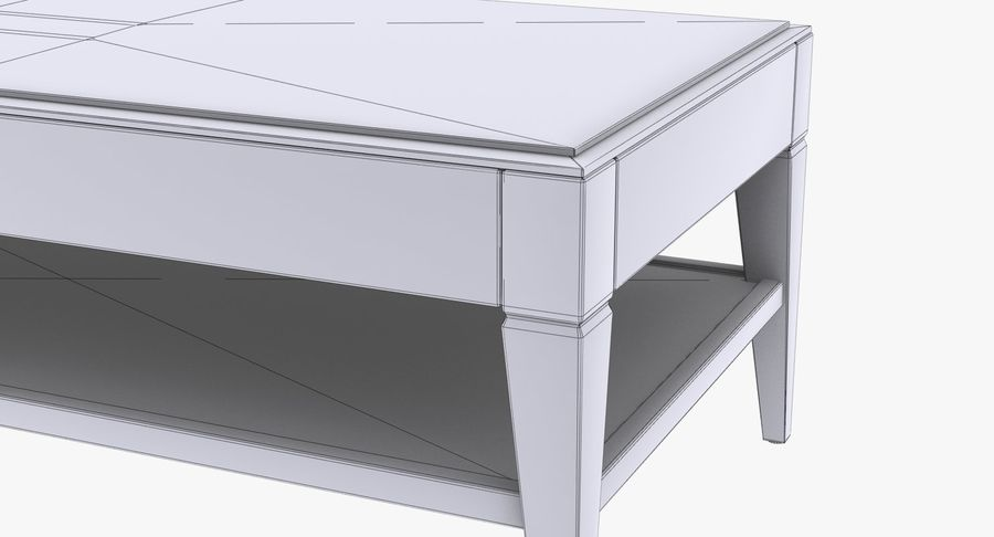 Antique Coffee Table royalty-free 3d model - Preview no. 10