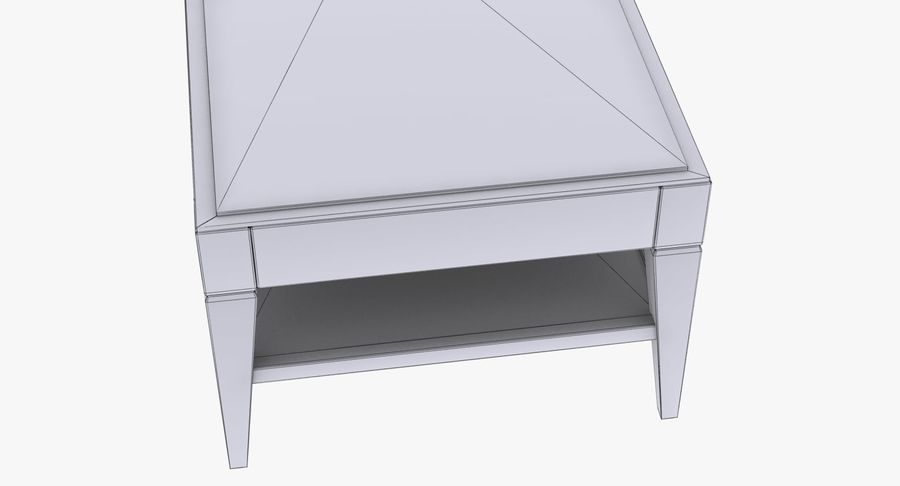 Antique Coffee Table royalty-free 3d model - Preview no. 11
