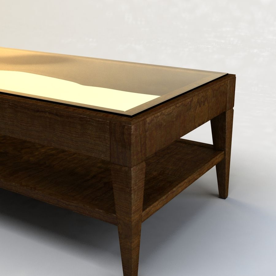 Antique Coffee Table royalty-free 3d model - Preview no. 7