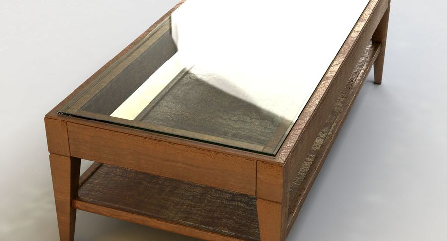 Antique Coffee Table royalty-free 3d model - Preview no. 8