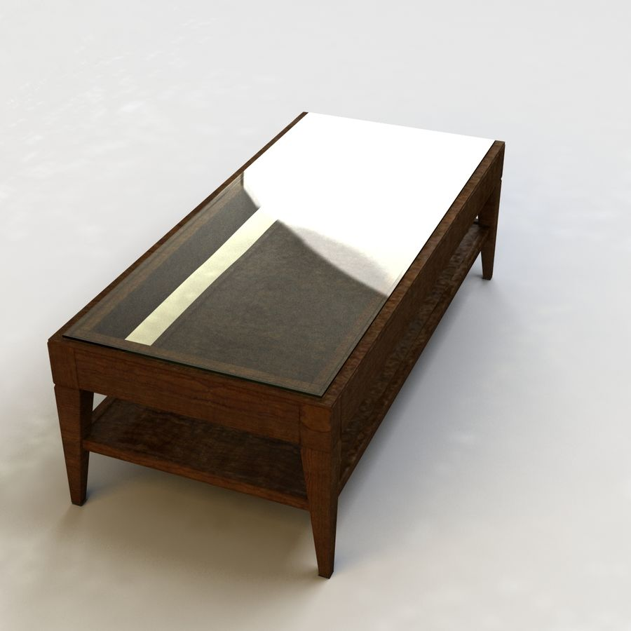 Antique Coffee Table royalty-free 3d model - Preview no. 6