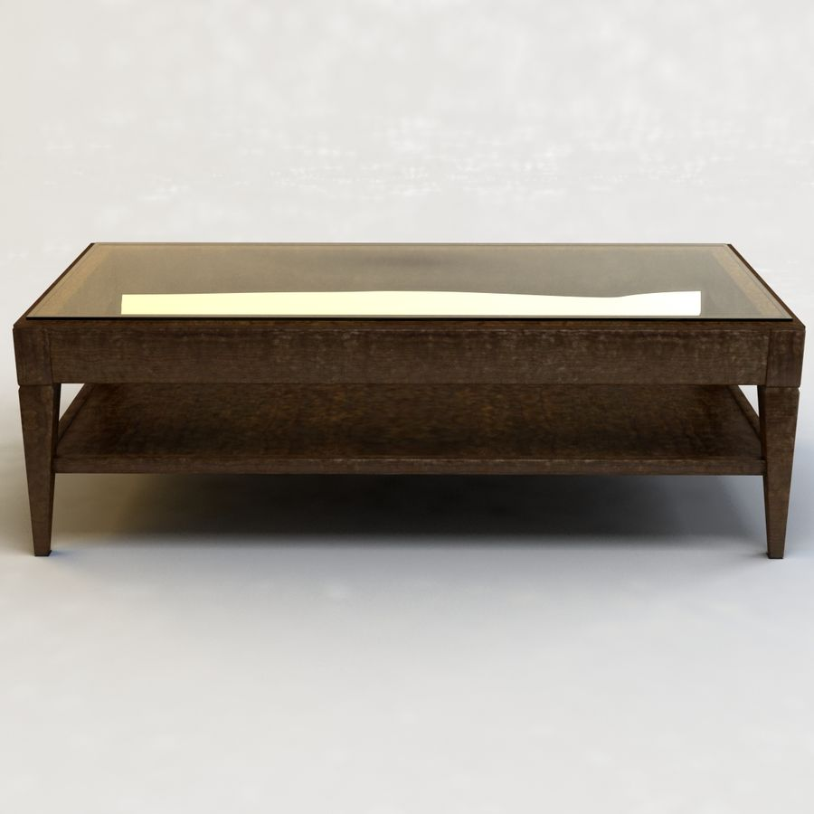 Antique Coffee Table royalty-free 3d model - Preview no. 5