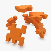 Happy Cube Orange (ANIMATED) 3d model